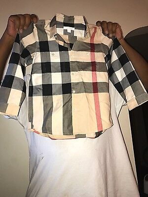 New Burberry Shirt (Boys Size 8)