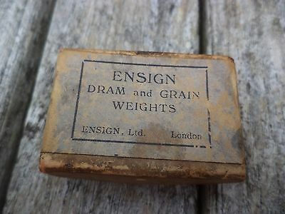 Apothecaries Ensign Dram and Grain Weights