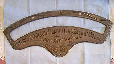 """Antique Brass """"The Standard Computing Scale Co."""" Advertising Name Plate"""