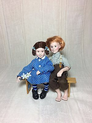 John and Mary Vintage Norman Rockwell Character Dolls