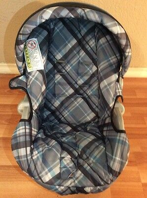 Safety 1st Eddie Bauer Baby Car Seat Cover Cushion Canopy Set Blue Black Gray