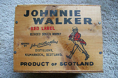 Vintage Wooden Crate Johnnie Walker.......Red Label...Mini Box...Rare