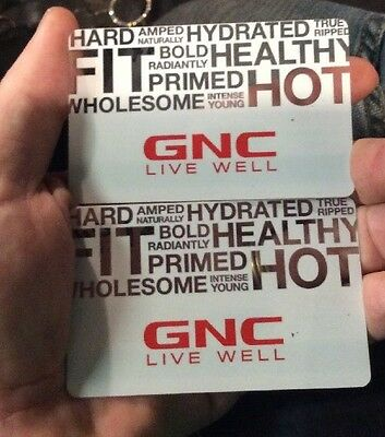 $61.75 GNC plastic gift card valid in-store or online!