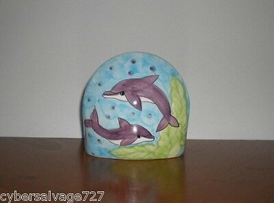 Dolphin Scrubby Scour Pad Holder w Pad Sink Soap Pad Holder Kitchen Ware