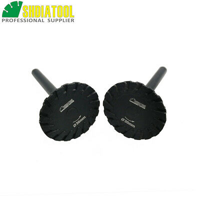 2pcs Hot Pressed Diamond Turbo Mini saw Blades with 6mm Shank for carving stone