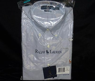 NWT Brand New Polo Ralph Lauren CLASSIC FIT DRESS SHIRT Button Down size M Blue