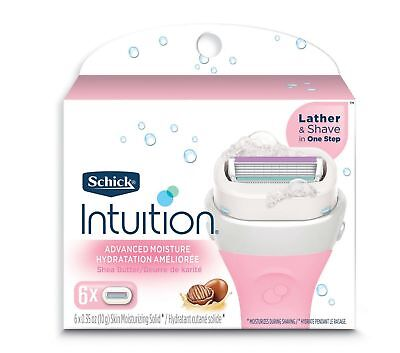 Schick Intuition Advanced Moisture Women's Razor Refills with Shea Butter Pac...