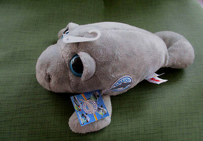 """Aurora10""""plush Dolphin Grupo Discovery Patch All Gray,Big Blue Eyes,Tags,New"""