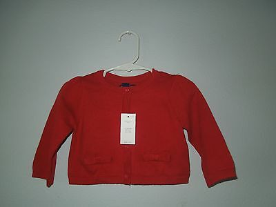 Baby Girls, Gap, Cardigan, Long Sleeve, Size 3-6 Months, Red