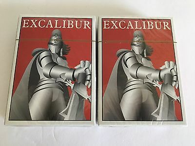 Lot of 2 sealed Excalibur Playing Cards