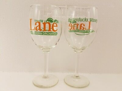 Lane Southern Orchards 8oz Butterducks Winery glasses