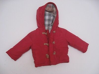 BURBERRY Children Toddler Toggle Puffer Jacket Coat Red Size 6M