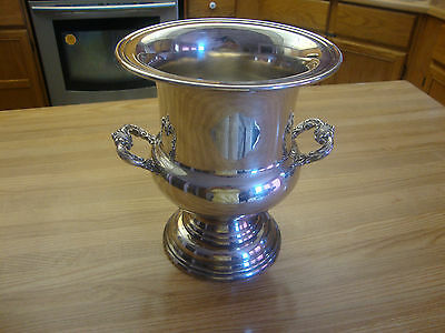 ANTIQUE Wm. A. ROGERS  SILVERPLATE  WINE OR CHAMPAGNE COOLER  MADE IN CANADA