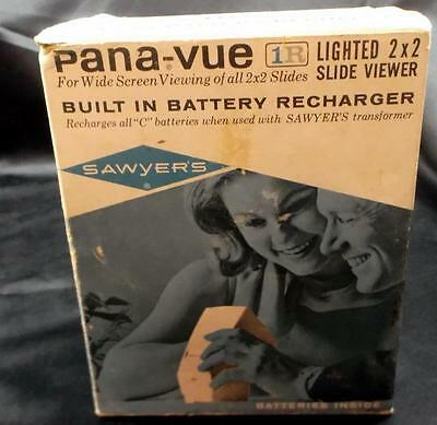 Sawyer's Pana-vue 1 R Lighted 2 X 2 Slide Viewer with Built in Batteries - NR