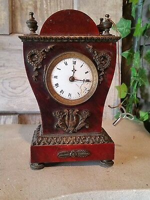1800s  French tortise shell Clock parts or repair !