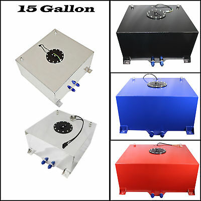 Polished Aluminum 15 Gallon OEM Fuel Cell & Tank & Sender Hot Rod V8