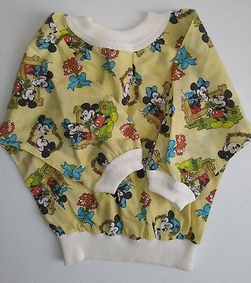 Vintage Disney Mickey Minnie Mouse shirt toddler child yellow long sleeve