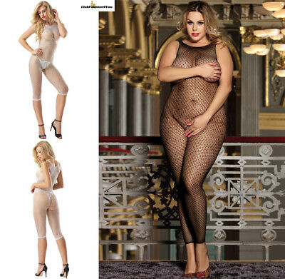 PLUS SIZE DESSOUS | Fashion 3 Quarter Length Fishnet Bodystocking | XS-L H3169