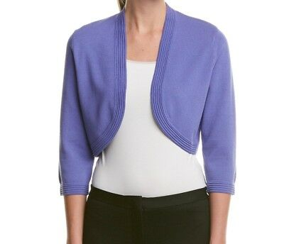 Anne Klein NEW Blue Womens Size Large L Open-Front Cardigan Sweater $69 437