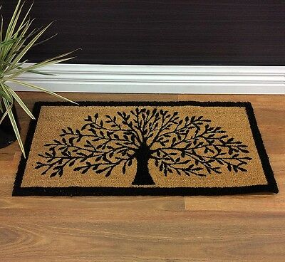 LARGE DOORMAT DOOR MAT TREE OF LIFE OUTDOOR FRONT RUG COCONUT FIBRE 90x45cm