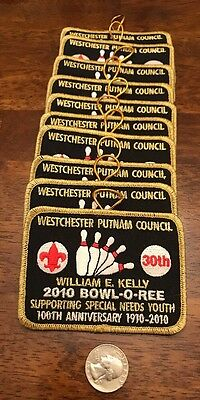 Lot Of 10 Boy Scout Council Bowlathon  Patches