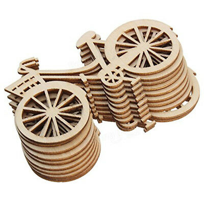 10pcs Wood Craft Bicycle shaped for Home Table Decor