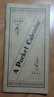 1901 Advertisement Pocket Calendar From Eclectic Remedy Company Chicago Illinois