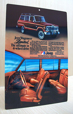 1979 Amc Jeep Wagoneer Limited The Ultimate In 4 Wheel Drive Vintage Style Sign