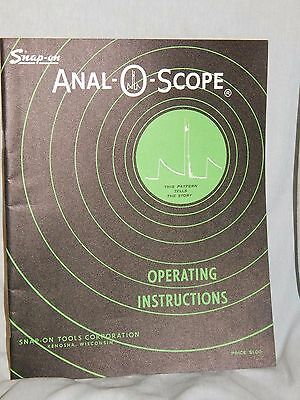 Vintage 1962, Snap-On Anal-O-Scope Operating Instructions Manual