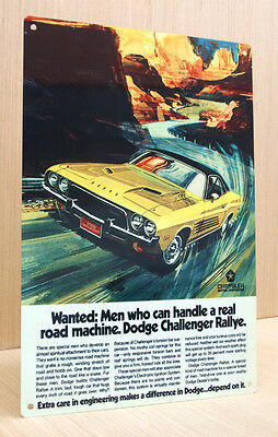 1973 Dodge Challenger Rallye Vintage Style Sign