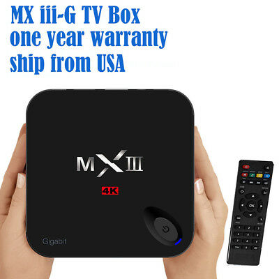 MXIII-G TV Box S812 Chip 1000M LAN Dual Wifi 2G 8G KODI Media Streaming Player