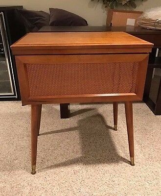 1960's Vintage Sewing Machine Table Cabinet  ~ Wood
