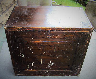 Antique Machinist Large Wood Tool Chest