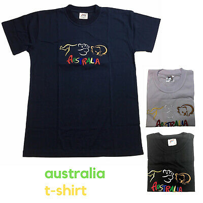 Adult AUSTRALIAN T Shirt Australia Day 100% COTTON Souvenir Tee Top Flag New