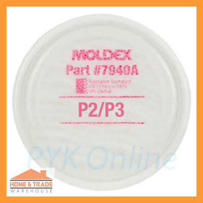 P2 P3 Particulate Filter Disk MOLDEX 7940A 2 Pack Painting Spraying Dust Safety