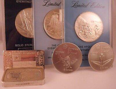 Mixed .925 Sterling & .999 Fine Silver Art Rounds & Bars 219 grams
