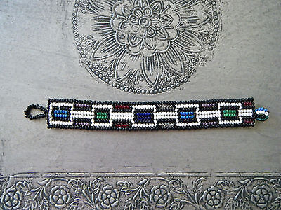 Ndebele South African Beaded Bracelet Zulu Handmade Bought in AfrIca 1990's New