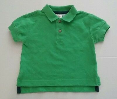 Hanna Andersson Baby Boys Green Polo Shirt Size 80 (18-24 months) Short Sleeve