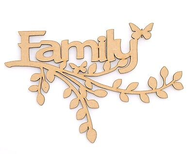 Wooden MDF Family Branch Shape Wall Art Wedding Family Tree Branch Family