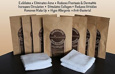 MicroFibre Antibacterial Face Cloth Exfoliating Acne Remover Cleanser Clear