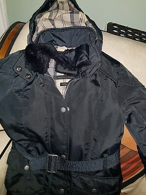 Girls Authentic Barbour Waterproof Breathable Hooded Coat Size S