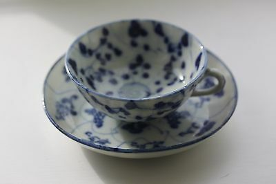 ANTIQUE CHINESE BLUE & WHITE PORCELAIN SAUCER TEK SING? and CUP