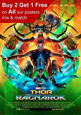 Thor Ragnarok Movie Poster A5 A4 A3 A2 A1