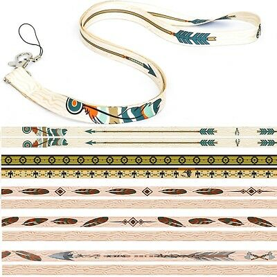 American Native Wolf Indian QUALITY UNIQUE LANYARD NECK STRAP JUMP RING CORD