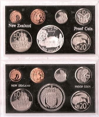 New Zealand 1972 And 1977 Proof Set