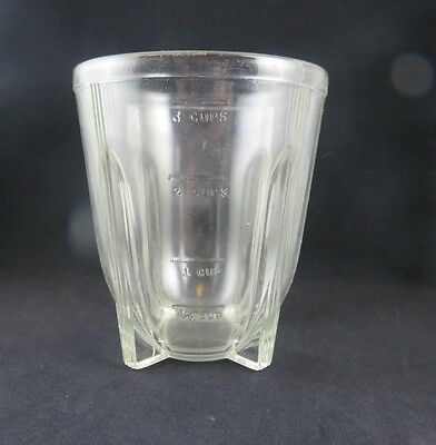 Vintage 3 Cup Heavy Glass Measuring Cup / Bowl