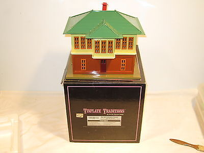 Mth Tinplate Traditions Lionel 437 Switch Tower 10-1121 Terra Cotta & Cream Ob