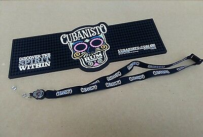 1 x Cubanisto Rum Flavoured beer thick rubber bar runner with FREE Lanyard new