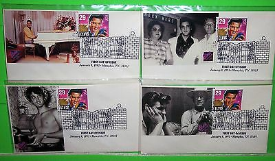 #2721 Elvis Presley Fdc, Paw Photo Cachet, Ua Lot Of 4, Hard To Find, Lot # 33