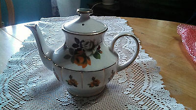 Vintage English Rose Teapot by Arthur Wood #5335 Made in England
